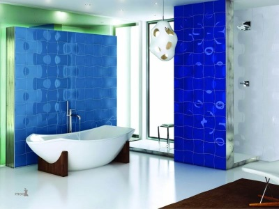 Blue- green bathroom