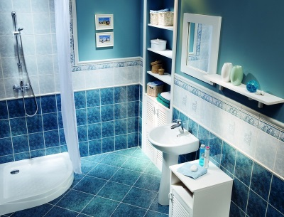 Blue and white - bathroom