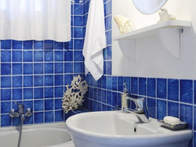 Accessories blue bathroom