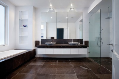 Brown bathroom in a modern style