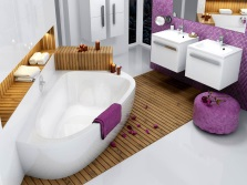 Versatility white interior bathroom