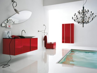 a combination of lines of furniture and sanitary ware