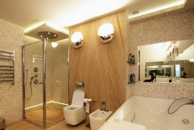 Lighting in the bathroom - lights and lamps