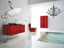 Red bathroom furniture