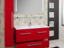 Red furniture - Bathroom