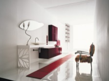 Maroon bathroom furniture