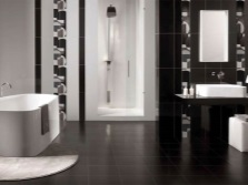 Black and white bathroom with toilet