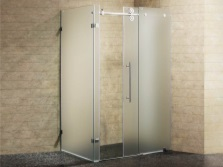 Shower with frosted glass