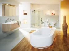 Zoning combined bathroom laminate