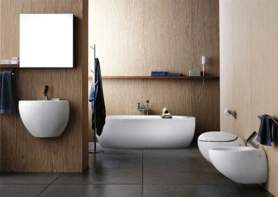 Combined bathroom - Suspended sanitary ware