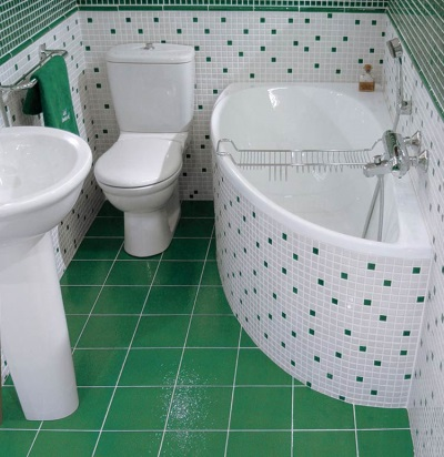 Bathroom in the Khrushchev , with WC