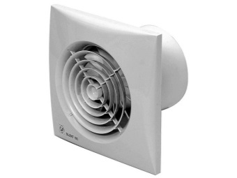 Axial fan for the bathroom with a humidity sensor