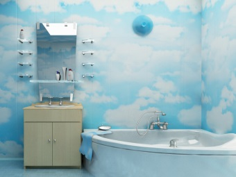 Paint the walls in the bathroom