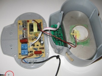 Ultrasonic bath inside