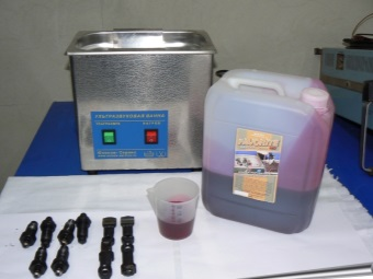 Liquid for ultrasonic baths