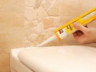 Features sanitary silicone sealant for bathroom