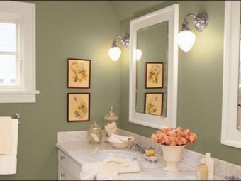 Choosing wall covering for the bathroom - tiles or paint