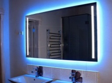 Bathroom mirrors with illumination
