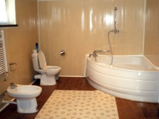 Repair of the bathroom in a budget option with walls made of PVC panels