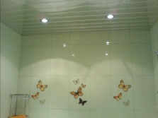 The ceilings in the bathroom PVC panels - Economy version