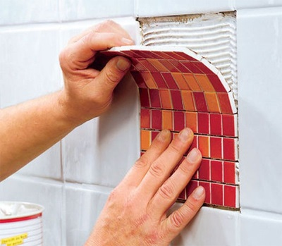 Replacing a tile mosaic