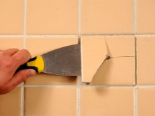 Removal of cracked tiles