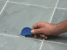 Removing the old grout