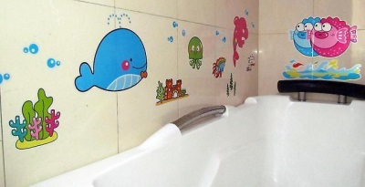 Baby vinyl stickers for the bathroom