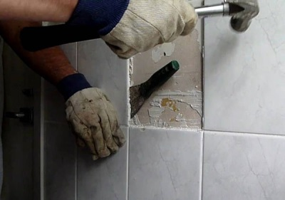 Carefully remove the tiles