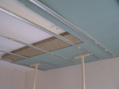 Installation of drywall on metal profile