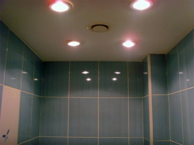 Fixtures for ceiling in the bathroom