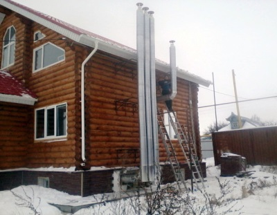 Outdoor ventilation wooden house