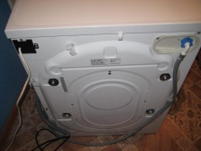 Washing machine rear view
