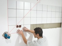 How to lay tile in the bathroom