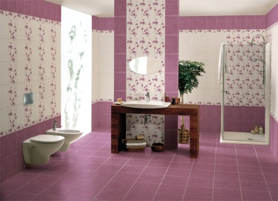 Professionally laid tile in the bathroom
