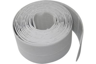 Curbing tape for bathrooms