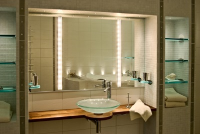 Options for lighting in the bathroom