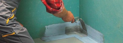 Preparatory work to the bathroom waterproofing
