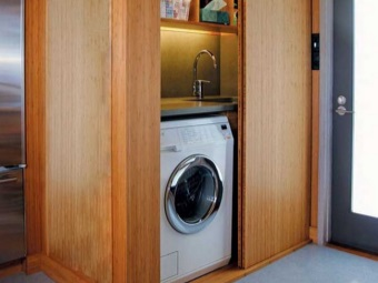 Washing machine in the closet - the correct location