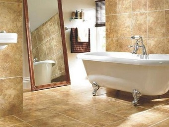 Caring for ceramic granite tiles in the bathroom