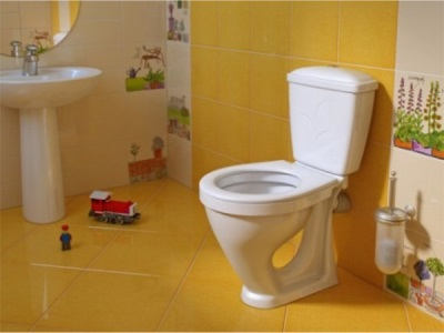 Caring for the toilet in the apartment with the children