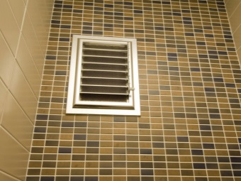 New mechanical ventilation in the bathroom