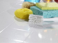 Sponges and brushes for cleaning