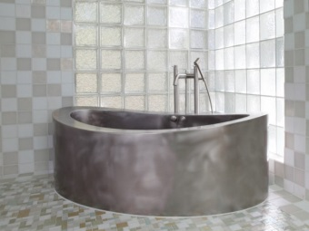 Oval bath stainless steel bath