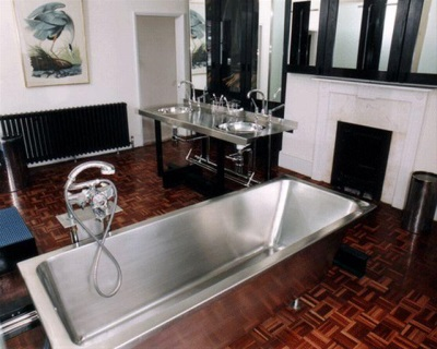 Steel stainless steel rectangular bath