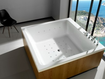 The volume of water to the bath in the form of irregularly shaped square