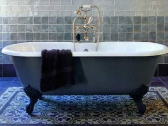 Cast iron colored bath