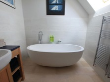 Accommodation oval tub in the bathroom