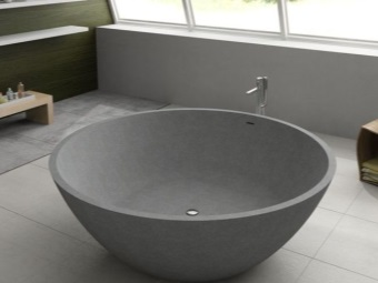 Round bath and its size
