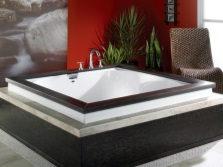 Acrylic square tub